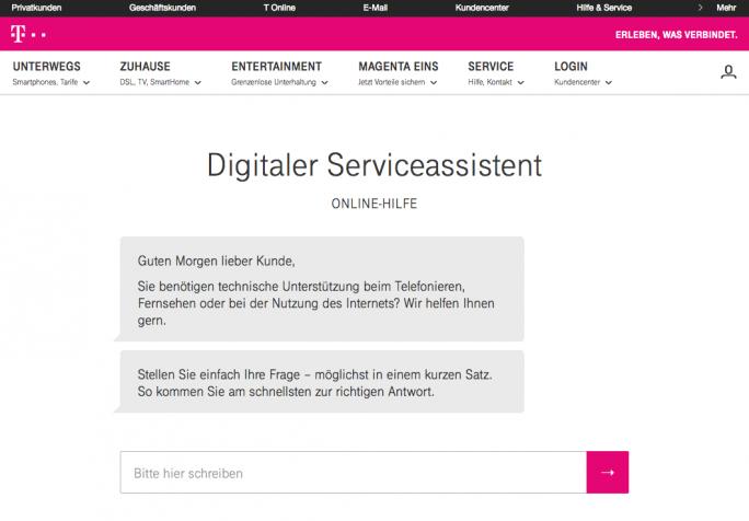 Digitaler Serviceassistent (Bild: Deutsche Telekom)