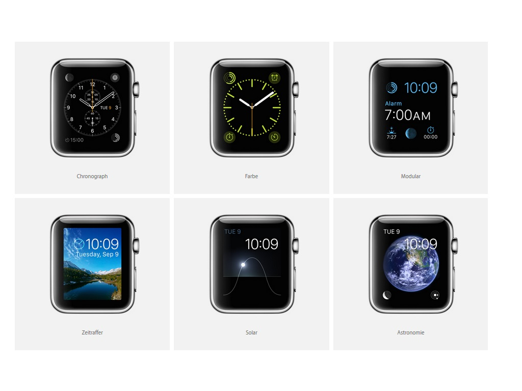Apple Watch Ziffernblätter
